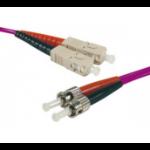 Hypertec 391750-HY fibre optic cable 1 m SC ST LSZH OM3 Purple