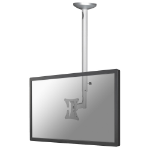 Newstar FPMA-C050SILVER - 60cm to 85cm height adjustable - LCD/TFT ceiling mount - Up to 30""
