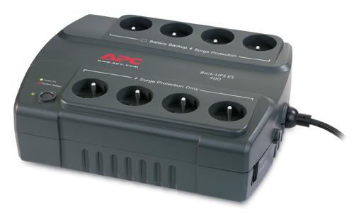 APC Back-UPS 400 sistema de alimentación ininterrumpida (UPS) En espera (Fuera de línea) o Standby (Offline) 400 VA 240 W 8 salidas AC