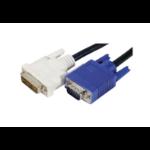 EXC 127710 video cable adapter 3 m DVI-A VGA (D-Sub) Black, Blue, White