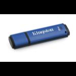 Kingston Technology DataTraveler Vault Privacy 3.0 8GB USB flash drive USB Type-A 3.2 Gen 1 (3.1 Gen 1) Blauw