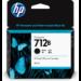 HP 712B 80-ml Black DesignJet ink cartridge 1 pc(s) Original High (XL) Yield