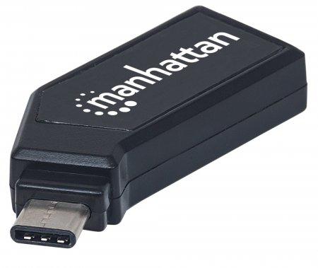 Manhattan 102001 card reader USB 2.0 Type-C Black
