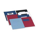 GBC LeatherGrain Binding Covers 250gsm A4 Dark Red (100)