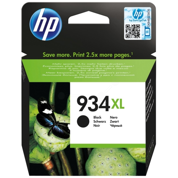 HP C2P23AE#301 (934XL) Ink cartridge black, 1000 pages, 26ml