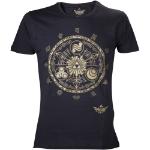 Nintendo Men's Legend of Zelda Skyward Sword Gold Gate of Time T-Shirt, Medium, Black (TS231502NTN-M)