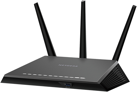 Netgear R7000P Dual-band (2.4 GHz / 5 GHz) Gigabit Ethernet Black wireless router