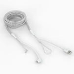 Bouncepad Reinforced MFI-approved 2m (6ft) Lightning cable | White |