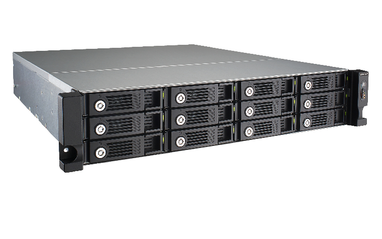 QNAP TS-1253U-RP NAS Rack (2U) Ethernet LAN Black