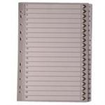 White Box WB MYLAR INDEX A4 1-20 WHITE
