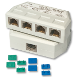 Lindy UTP/RJ45 Port Multiplier network splitter White