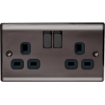 Nexus NBN22B Nickel socket-outlet
