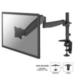 """Newstar Full Motion Desk Mount (clamp & grommet) for 10-30"""" Monitor Screen, Height Adjustable (gas spring) - Black"""