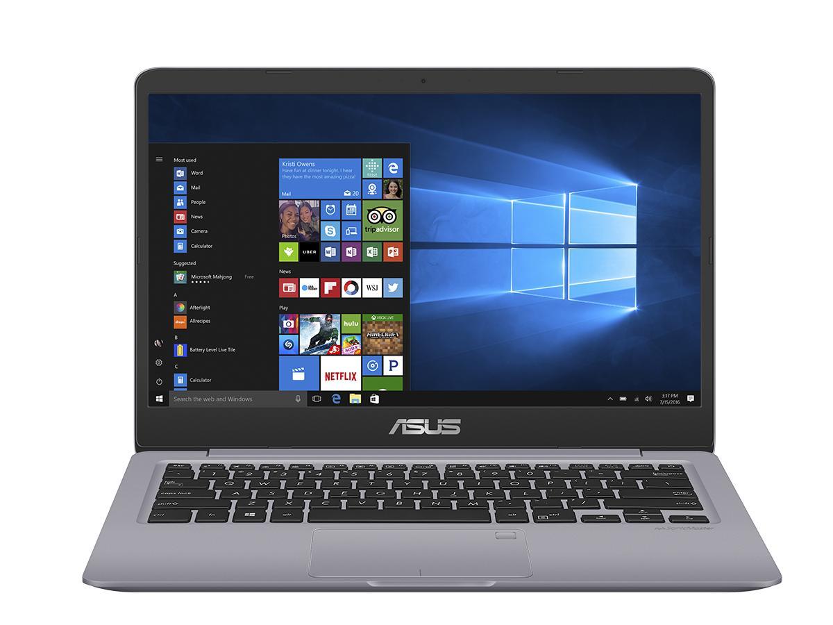 """ASUS VivoBook S410UA-BV050T 2.4GHz i3-7100U 14"""" 1366 x 768pixels Grey Notebook"""