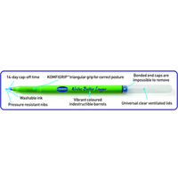 SWASH KOMFIGRIP HANDWRITING PEN BLUE