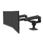 "Ergotron LX Series 45-245-224 flat panel desk mount 68.6 cm (27"") Clamp/Bolt-through Black"