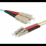 Hypertec ProConnectLite fibre optic cable 5 m SC LC LSZH OM4 Aqua colour