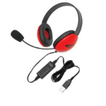 Ergoguys Listening First Binaural Head-band Black,Red headset