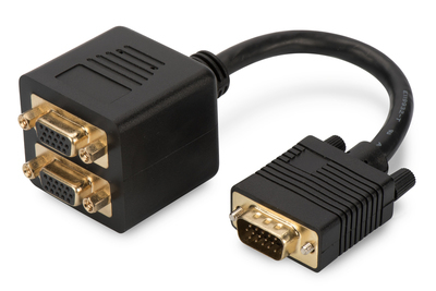 Digitus AK-310400-002-S Cable splitter Black cable splitter/combiner