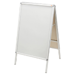 Nobo A Board Snap Frame Poster Display 700x1000mm Aluminium Frame Plastic Front Silver DD