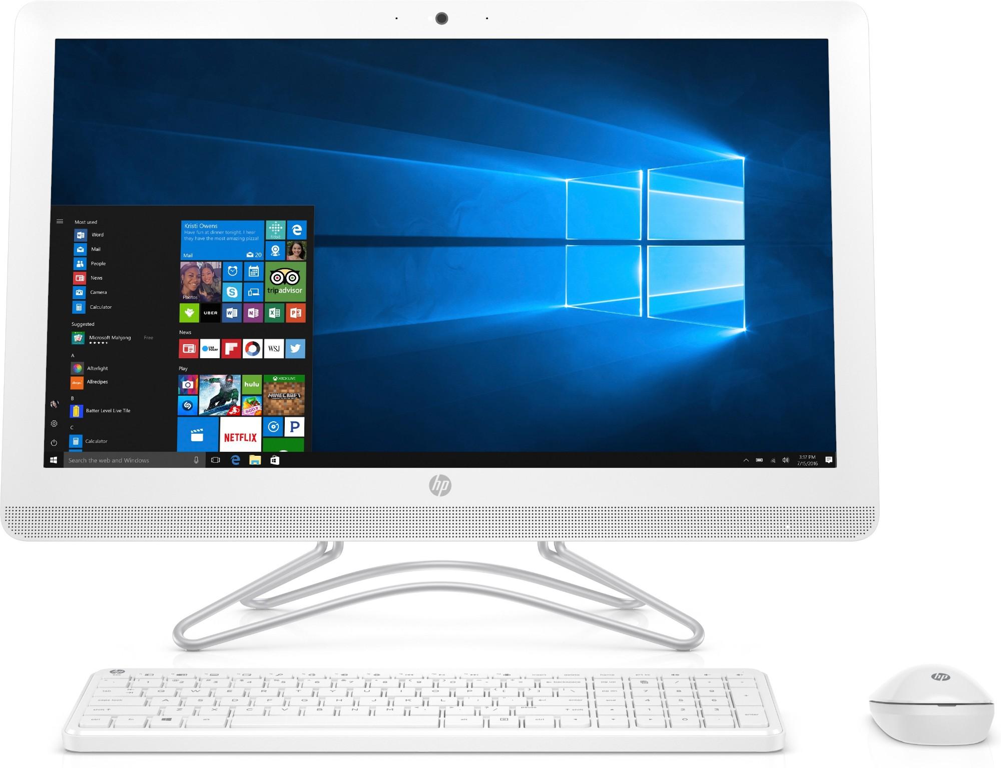 HP 24 -e034na 2.4GHz i3-7100U 7th gen Intel® Core™ i3 23.8