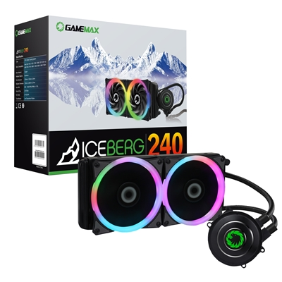 GAMEMAX Iceberg Universal Socket 240mm PWM 1800RPM RGB LED AiO Liquid CPU Cooler