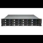 QNAP UX-1200U-RP disk array 144 TB Rack (2U) Black,Grey
