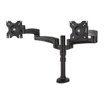 B-Tech Twin Flat Screen Desk Mount with Dual Articulated Arms
