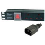 Dynamode PDU-6WS-H-UK-IEC 6AC outlet(s) 1U Black power distribution unit (PDU)
