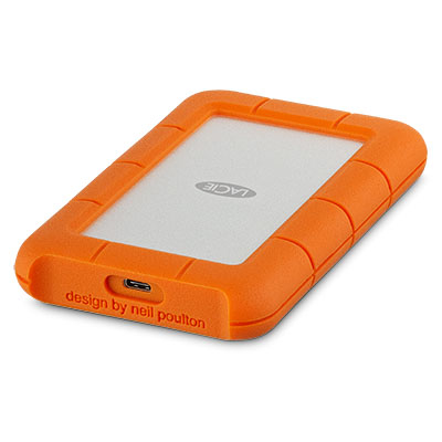 LaCie Rugged USB-C 4000GB Orange,Silver external hard drive