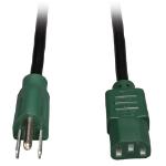 """Tripp Lite P006-004-GN power cable Black 47.2"""" (1.2 m) C13 coupler NEMA 5-15P"""