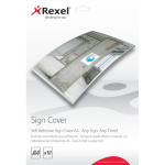 Rexel Self Adhesive Sign Covers A4 (10)