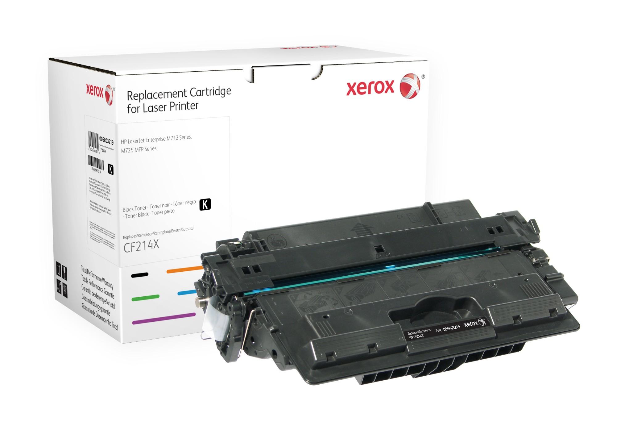 Xerox Cartucho de tóner negro. Equivalente a HP CF214X. Compatible con HP LaserJet M712, LaserJet M725