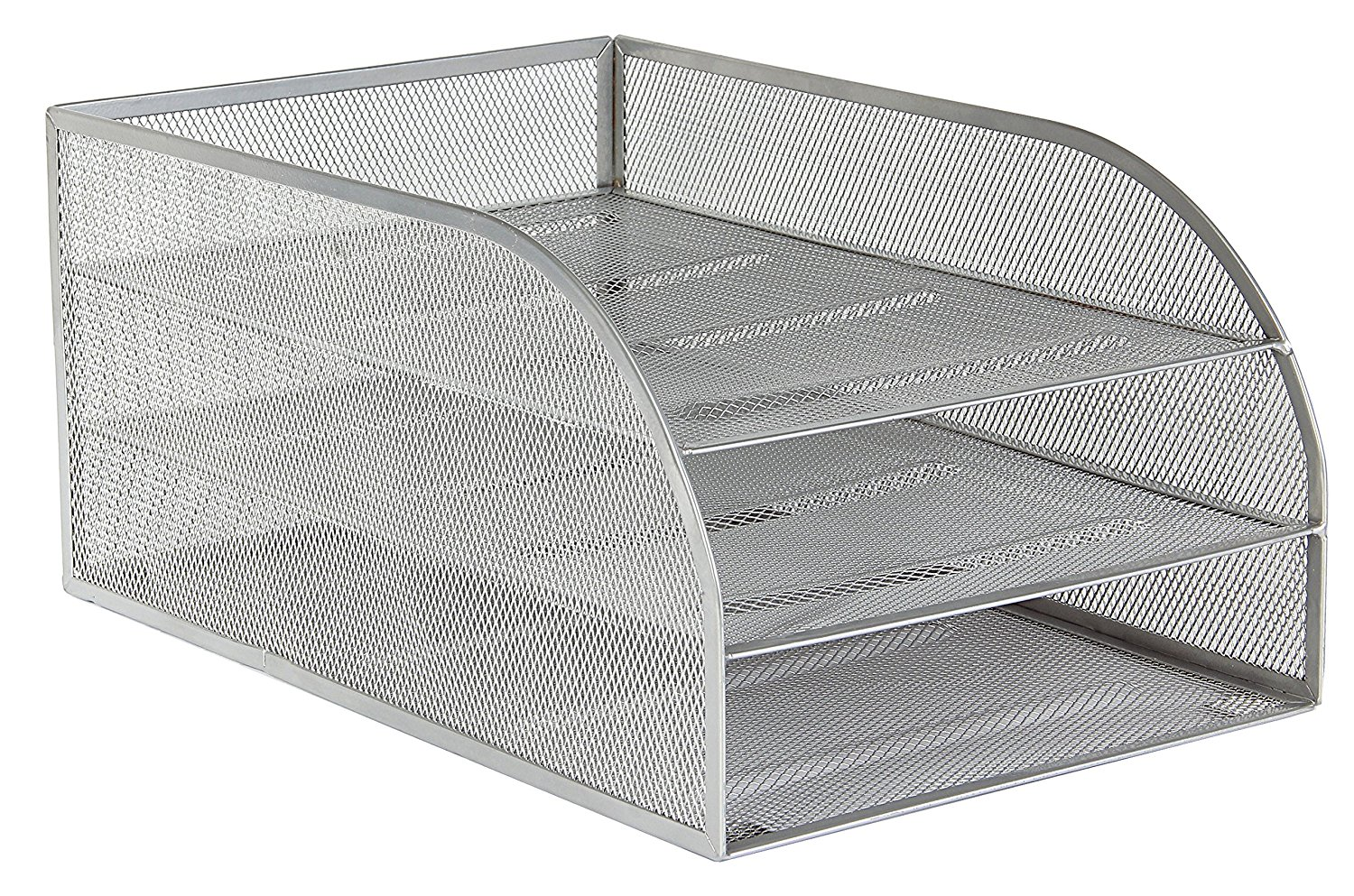 Osco Mesh 3 Tier Assembled Tray (Silver)