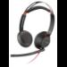 POLY Blackwire 5220 Auriculares Diadema Negro, Rojo