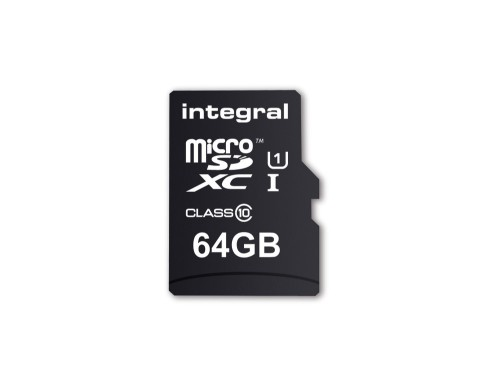 Integral 64GB MICRO SD CARD MICROSDXC CL10 UHS 1 90 MB/S + ADAPTER