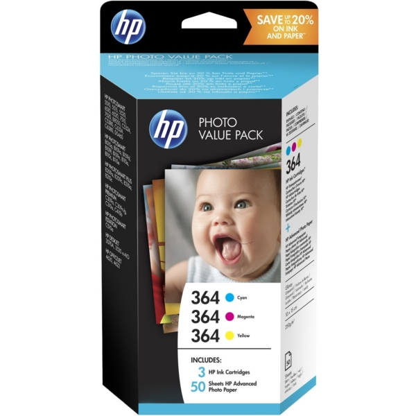 HP T9D88EE#301 (364) Ink cartridge multi pack, Pack qty 3