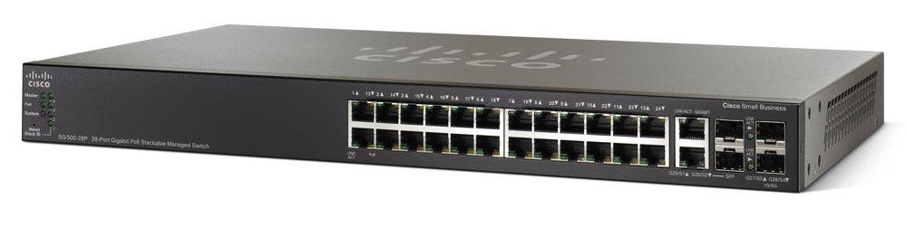 Cisco Small Business SG500-28P Managed L3 Gigabit Ethernet (10/100/1000) Power over Ethernet (PoE) 1U Black