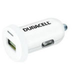 Duracell DR5020W Auto White mobile device charger