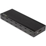 StarTech.com USB-C 10Gbps to M.2 NVMe SSD Enclosure - Portable External M.2 NGFF PCIe Aluminum Case - 1GB/s Read/Write - Supports 2230, 2242, 2260, 2280 - TB3 Compatible - Mac & PC