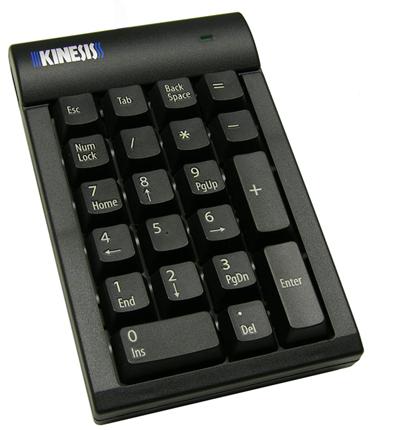 Kinesis Low-Force Keypad numeric keypad USB PC/server Black