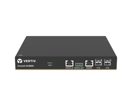 Vertiv Avocent 8-Port ACS800 Serial Console with external AC/DC Power Brick - Jumper cord: Plug C14 to connector C13