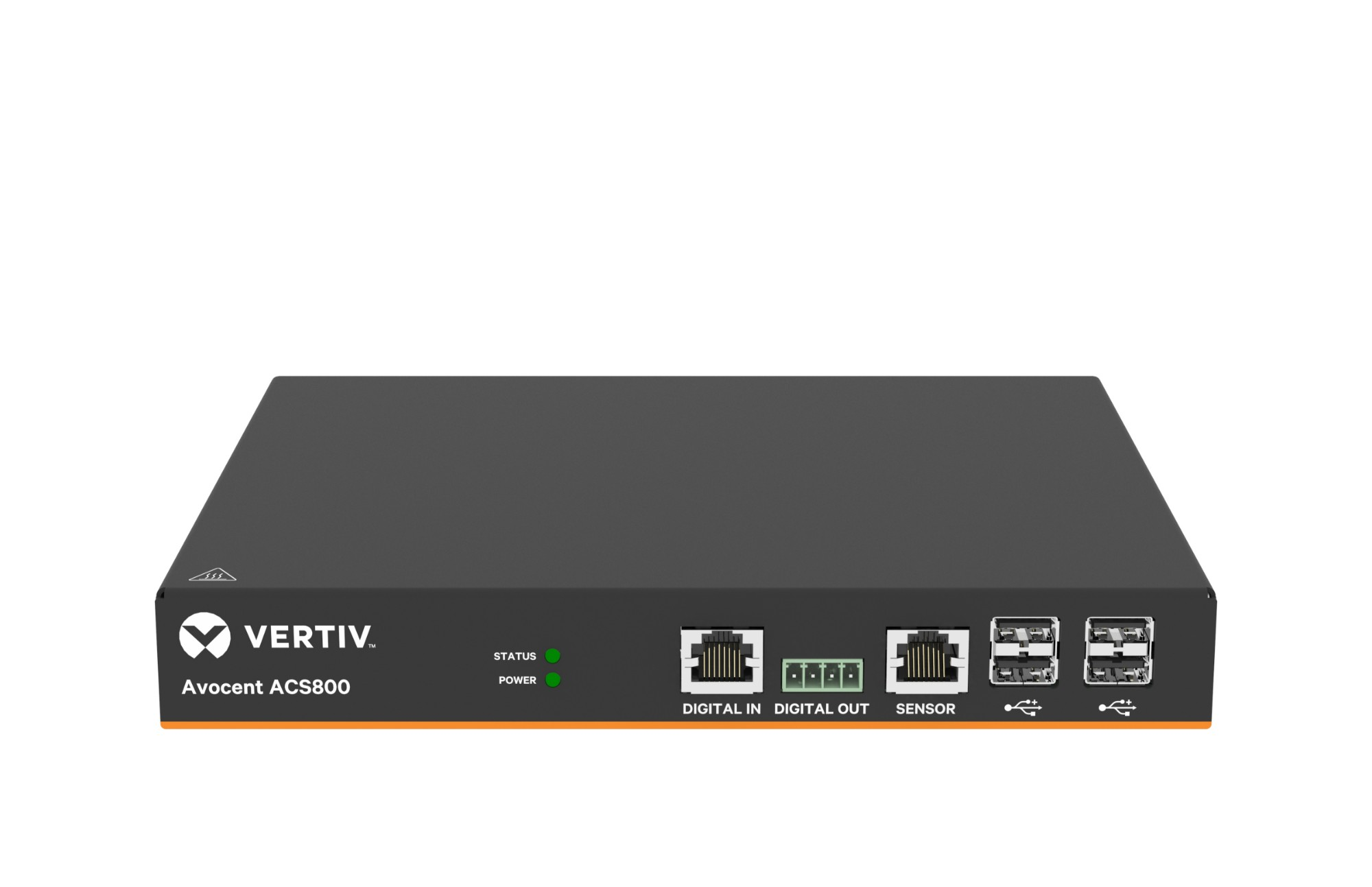Vertiv Avocent 8-Port ACS800 Serial Console with external AC/DC Power Brick - Jumper cord: Plug C14