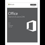 Microsoft Office Home & Student 2016 f/Mac 1gebruiker(s) Frans