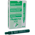 Pentel N 50 Bullet tip Green 12pc(s) permanent marker