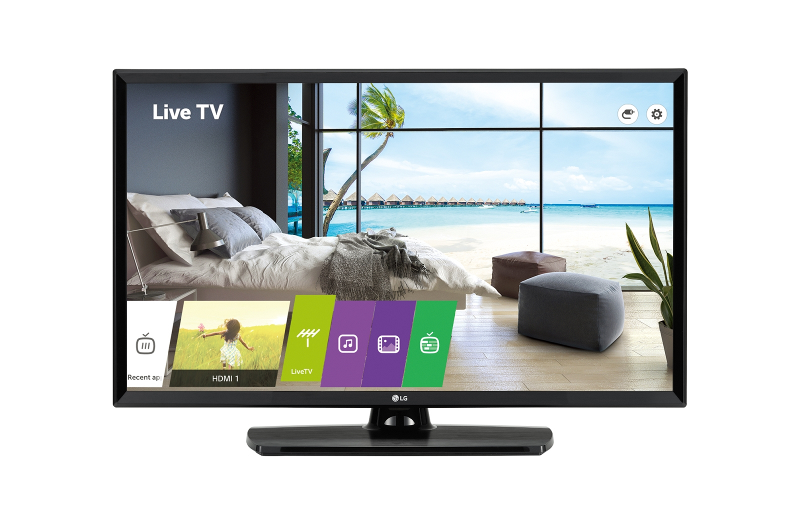 "LG 43LU661H hospitality TV 109.2 cm (43"") Full HD 400 cd/m² Black Smart TV 10 W"