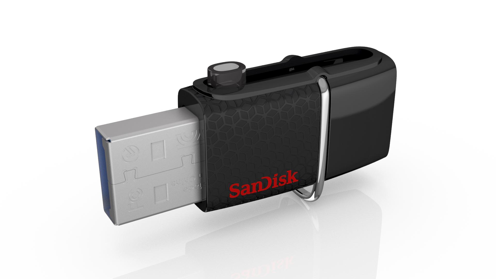 Sandisk 128GB Ultra Dual USB 3.0 128GB USB 3.0 (3.1 Gen 1) Type-A Black USB flash drive