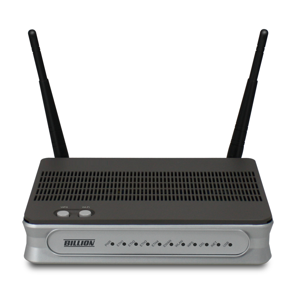 Billion BiPAC 8800NL R2 Single-band (2.4 GHz) Fast Ethernet Black,Silver wireless router