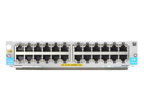 Hewlett Packard Enterprise 24-port 10/100/1000BASE-T PoE+ MACsec v3 zl2 Module