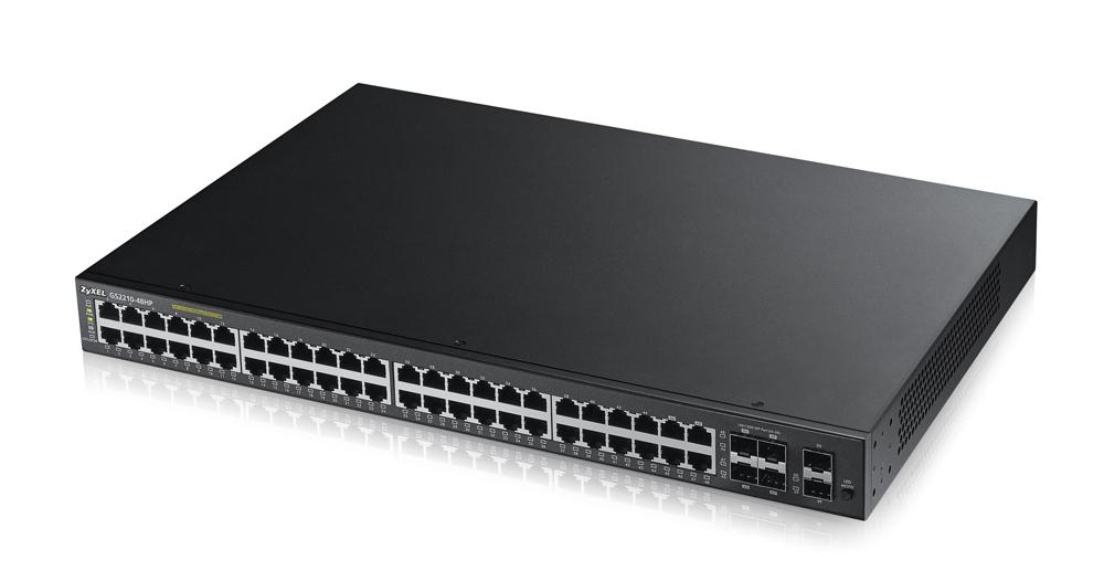 Zyxel GS2210-48HP Gestionado L2 Gigabit Ethernet (10/100/1000) Negro 1U Energía sobre Ethernet (PoE)
